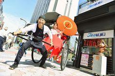 """◆Ready! 3.2.1 KURUKI! Thanks to the nice guy from the rickshaw company """"Kurumaya"""" in Asakusa who helped our shooting!! ➔Kurumaya(くるま屋) (JP.)http://kuruma8.jp/ (EN.)http://kuruma8.jp/en/ #japankuru #japan #asakusa #rackshaw #kurumaya #tokyo"""