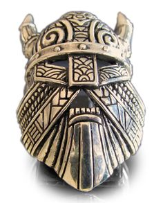 THOR VIKING RING with Mask Horns & Warhammer in Bronze - Size Unique Custom Handmade Design. Available in ALL Sizes: (custom resizing also available). Maori Tattoos, Marquesan Tattoos, Foot Tattoos, Small Tattoos, Filipino Tattoos, Tattoo Chest And Sleeve, Sleeve Tattoos, Tattoo Neck, Tattoo Tree