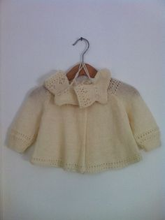 Vintage Baby Girls Cream Wool Top & Booties