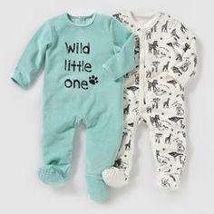 Pijama de terciopelo (lote de 2) 0 meses-3 años R essentiel