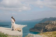 Santorini, Greece Wedding Photography at Santos Wines Winery by Megan Saul Photography