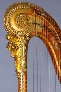 Ornately Decorated Harp by Naderman, 1797 - in the National Music Museum at the University of South Dakota