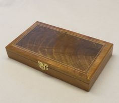 Jewellery Box - Solid Cherry with Walnut Curl veneered top £75.00     #CRAFTfest          Norfolkwoodcrafts on Folksy