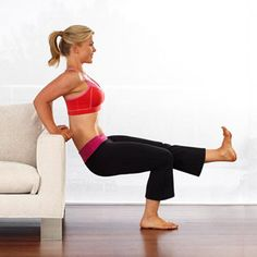 Exercise without leaving your living room.... Literally. (Allison Sweeney's couch workout)