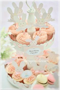 Shabby Chic Bunny Themed 1st Birthday Party with SUCH CUTE IDEAS via Kara's Party Ideas | KarasPartyIdeas.com #BunnyParty #PartyIdeas #Supplies (23)