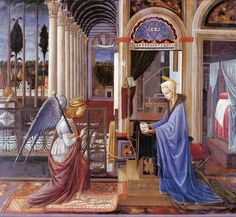 Fra Carnevale - The Annunciation. 1445 - 1450
