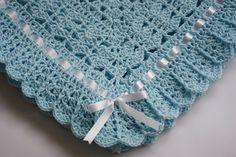 Baby Blanket / Afghan Crochet Baby Blanket by HandmadeByHallien