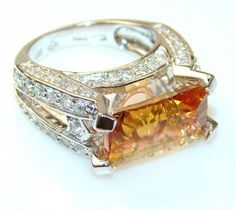Luxury Golden Magic Topaz Sterling Silver Ring s. 6