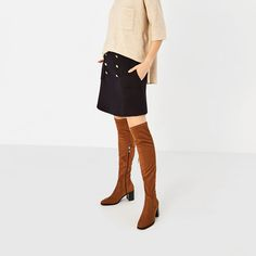 Image 1 of STRETCH HIGH HEEL OVER-THE-KNEE BOOTS from Zara