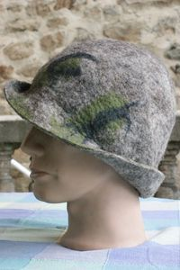 My felted hat