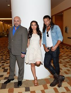 Mark Ryan, Zach McGowan, and Jessica Parker Kennedy at an event for Black Sails (2014)