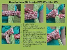 How to tie a slipknot