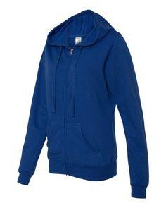 Cobalt Independent Trading Co Juniors Heavenly Fleece Full-Zip Hooded Sweatshirt SS650Z (FREE SHIPPING)