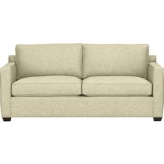 Davis Queen Sleeper Sofa - Crate and Barrel - 78 inches Basement Furniture, Living Room Furniture, Crate And Barrel, Full Sleeper Sofa, Sleeper Sofas, Sofas For Small Spaces, Air Mattress, Comfortable Sofa, Cozy Bed