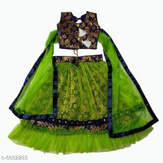 Lehenga Cholis Modern Trendy Kids Girls Lehanga Choli Top Fabric: Cotton Silk Lehenga Fabric: Jacquard Dupatta Fabric: Net Sleeve Length: Short Sleeves Top Pattern: Zari Woven Lehenga Pattern: Zari Dupatta Pattern: solid Stitch Type: Stitched Multipack: 1 Sizes:  4-5 Years (Lehenga Waist Size: 19 in Lehenga Length Size: 20 in Duppatta Length Size: 1.5 m)  3-4 Years (Lehenga Waist Size: 19 in Lehenga Length Size: 20 in Duppatta Length Size: 1.5 m)  7-8 Years (Lehenga Waist Size: 19 in Lehenga Length Size: 20 in Duppatta Length Size: 1.5 m)  9-10 Years (Lehenga Waist Size: 19 in Lehenga Length Size: 20 in Duppatta Length Size: 1.5 m) Country of Origin: India Sizes Available: 3-4 Years, 5-6 Years, 7-8 Years, 9-10 Years   Catalog Rating: ★4.2 (474)  Catalog Name: Modern Trendy Kids Girls Lehanga Cholis CatalogID_1065271 C61-SC1137 Code: 936-6682263-6171