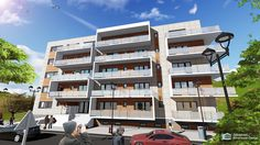 Imobil locuinte colective D+P+4E Multi Story Building, Design