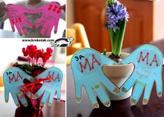 Gret idea for valentines day, mothers day, fathers day, etc. Valentine's Day Crafts For Kids, Mothers Day Crafts, Fun Crafts, Activities For Kids, Valentine Crafts For Kids, Holiday Crafts, Valentines, Footprint Crafts, Family Fun Night