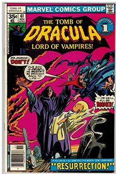 TOMB OF DRACULA 61 F-VF Nov. 1977 @ niftywarehouse.com #NiftyWarehouse #Dracula #Vampires #ClassicHorrorMovies #Horror #Movies #Halloween #Vampire