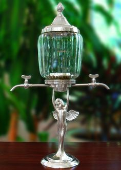 Lady Wings Metal 2 Spout Absinthe Fountain