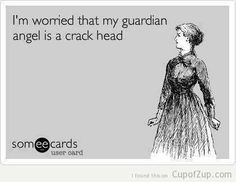 Im worried that my guardian angel  - http://jokideo.com/im-worried-that-my-guardian-angel-2/
