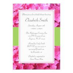 90th birthday invitation wording samples 80th birthday party big save on hydrangea border pink green bridal shower personalized invite hydrangea stopboris Images