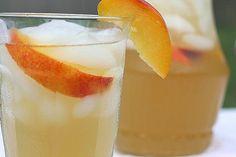 Peach infused green tea