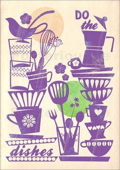 do the dishes: Poster & Kunstdruck von Elisandra
