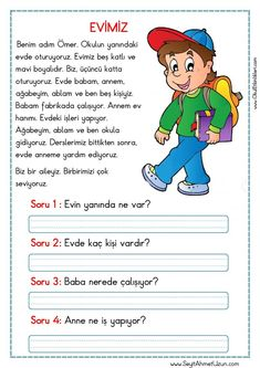 Tips And Tricks, Turkish Lessons, Learn Turkish Language, 1st Grade Worksheets, Coding For Kids, Classroom Rules, Reading Passages, Stories For Kids, Primary School