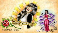 Selena by:Alejandra L Manriquez #tattoo #selena quintanilla #comolaflor #pinup