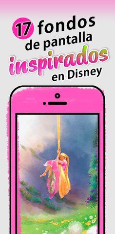 Las princesas de Acuarela se ven hermosas en un fondo de pantalla para celular