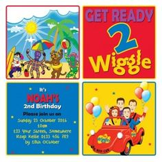 Boys and Girls, Wiggles Birthday Party Invitations and Invites. Wiggles Birthday, Wiggles Party, The Wiggles, 2nd Birthday Invitations, Invites, Boy Birthday Parties, Birthday Ideas, Party Fun, Party Ideas