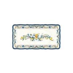 Le Cadeaux Melamine Floral Harvest - 10 by 5 inch Biscuit Tray -- Awesome products selected by Anna Churchill