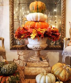 Pumpkin Topiary | Indeed Decor... Great Dining & Decorating Ideas