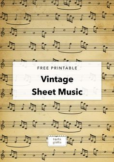 Free Printable Vintage Sheet Music Paper Crafts - The Ultimate Craft Ideas Paper crafts had been ver Sheet Music Crafts, Sheet Music Art, Music Paper, Vintage Sheet Music, Vintage Sheets, Music Sheets, Music Music, Free Sheet Music, Sheet Music Ornaments Diy