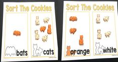 Sorting Cookie Ideas for Halloween