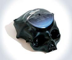 Custom Vinyl Record Skulls   DudeIWantThat.com