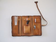 Handmade leather pipe pouch NEW
