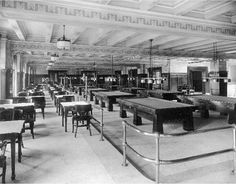 1926 - Henry Clay Hotel Billiard and Grille Room, 3rd and Chestnut. University of Louisville Photographic Archives