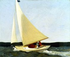 Edward Hopper, Sailing, ca. 1911, oil.  Carnegie Museum of Art  The first painting Hopper sold.