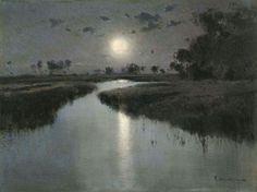 Eliseo Meifrén y Roig - Paisaje nocturno (1890 circa)