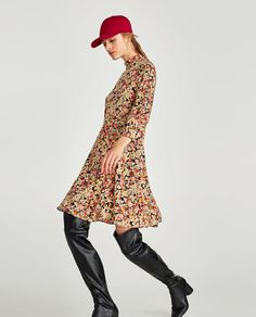 Image 3 of HIGH NECK DRESS from Zara