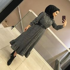 Kyafet Seenekleri / Dress / Hijab you can find similar pins below. We have brought the best of the ing pi. Modest Fashion Hijab, Hijab Chic, Abaya Fashion, Muslim Fashion, Fashion Dresses, Girl Fashion, Muslim Dress, Hijab Dress, Hijab Outfit
