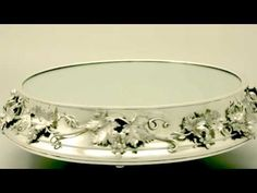 Video ... Sterling Silver Mirrored Plateau - Antique Victorian - AC Silver (W5958). More info here http://www.acsilver.co.uk/shop/pc/Sterling-Silver-Mirrored-Plateau-Antique-Victorian-63p4343.htm