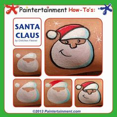 Christmas Santa Cheek art by Gretchen Fleener