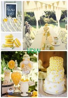lemon yellow weddings   VOW: #9 Lemon Zest, Bright Yellow Wedding   Daughter