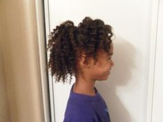 Flat Twist out on 4a Natural Hair
