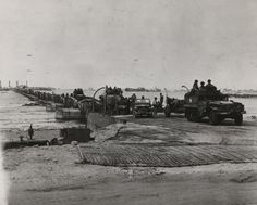 The man-made Mulberry Harbor, Normandy 6 June 1944