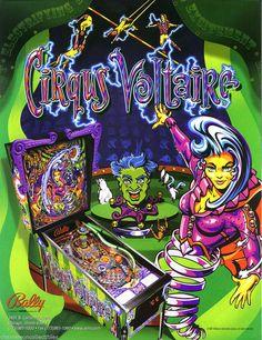 Bally CIRQUS VOLTAIRE 1997 Original NOS Flipper Pinball Machine Promo Sale Flyer #CirqusVoltaire #Pinball #PinballFlyer @PinballMachineFlyers