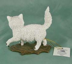 Cat Figurine Kitty Cat Astrophies Furry Big Mess Hamilton Collection Bradford EX…