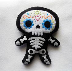 Sugar Skull Plush by misscoffee.deviantart.com